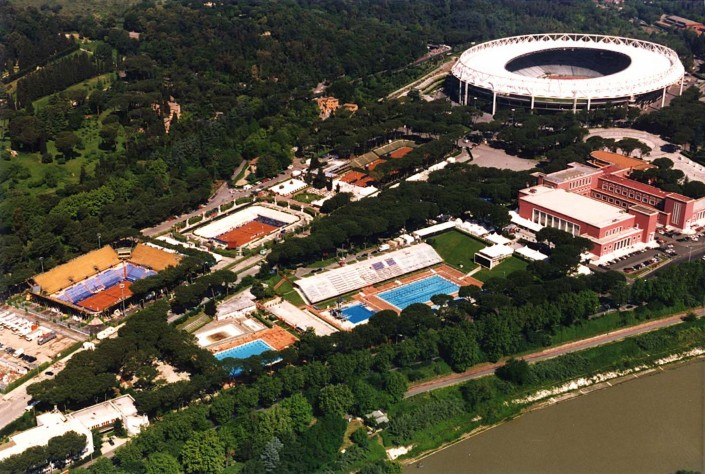 AEREAL VIEW OF ROME'S OLYMPIC STADIUM